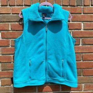 Erika Aqua Fleece Vest Size Large